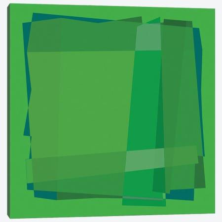 Geo Green Canvas Print #GHL50} by George Hall Art Print