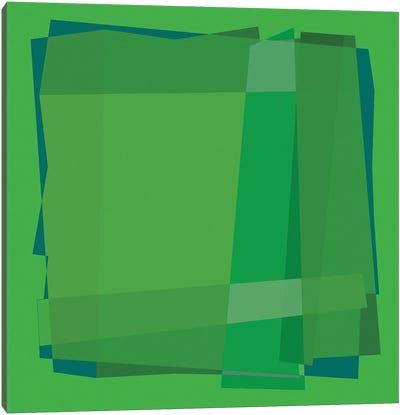 Geo Green Canvas Art Print