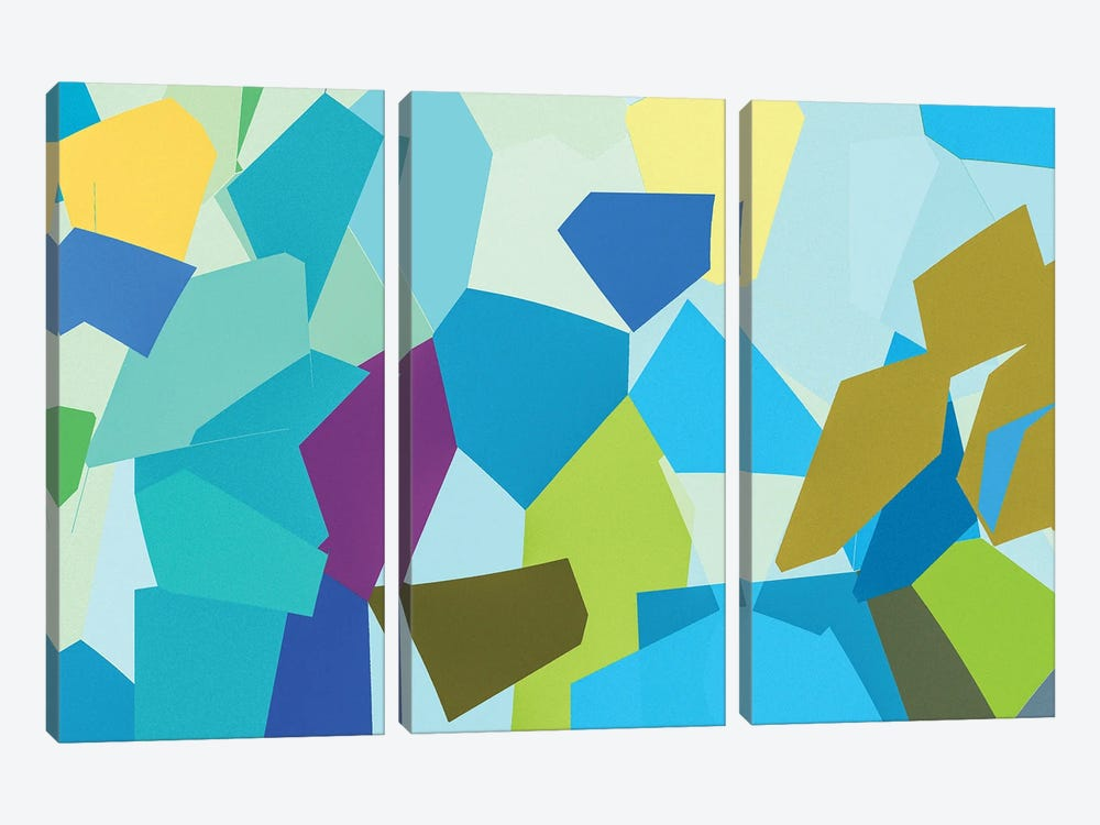 Summer City by George Hall 3-piece Canvas Wall Art