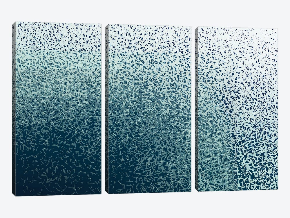 Freedom Wave by George Hall 3-piece Canvas Wall Art