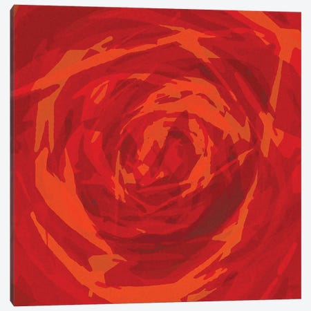 The Red Rose Canvas Print #GHL77} by George Hall Canvas Artwork