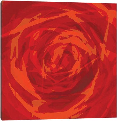 The Red Rose Canvas Art Print