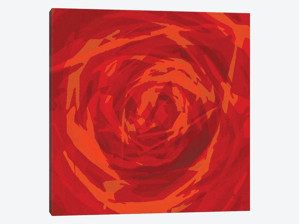 The Red Rose by George Hall 1-piece Canvas Artwork