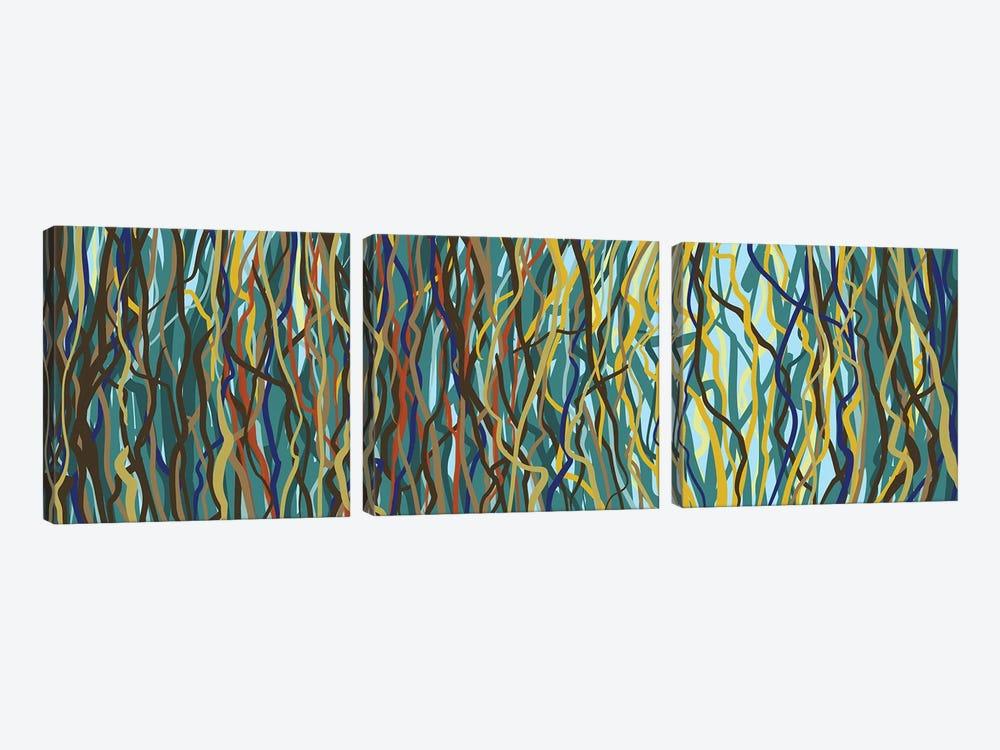 Tree Dance by George Hall 3-piece Canvas Print
