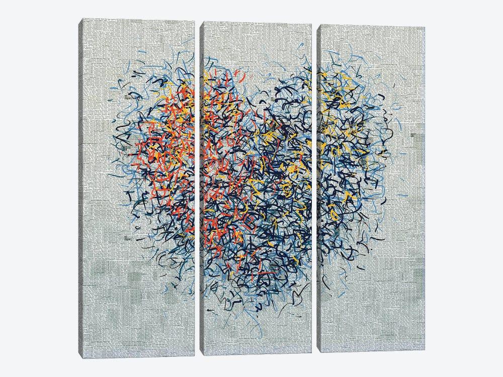 The Optimist Heart I by George Hall 3-piece Canvas Wall Art