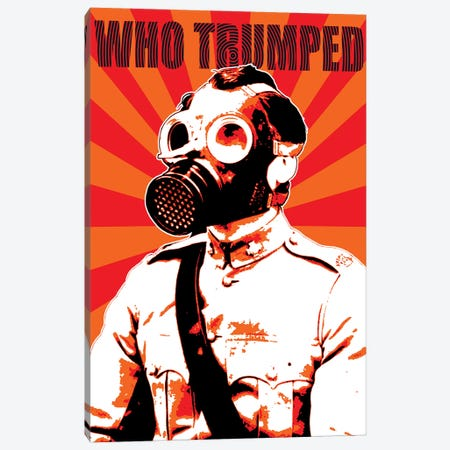 Who Trumped - Red Canvas Print #GHO103} by Gary Hogben Canvas Print