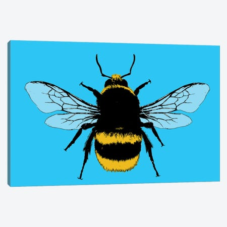 Bee Mine - Blue Canvas Print #GHO104} by Gary Hogben Canvas Artwork