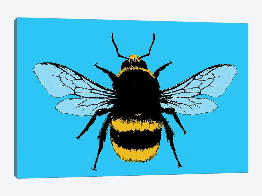 Bee Mine - Blue by Gary Hogben 1-piece Canvas Wall Art