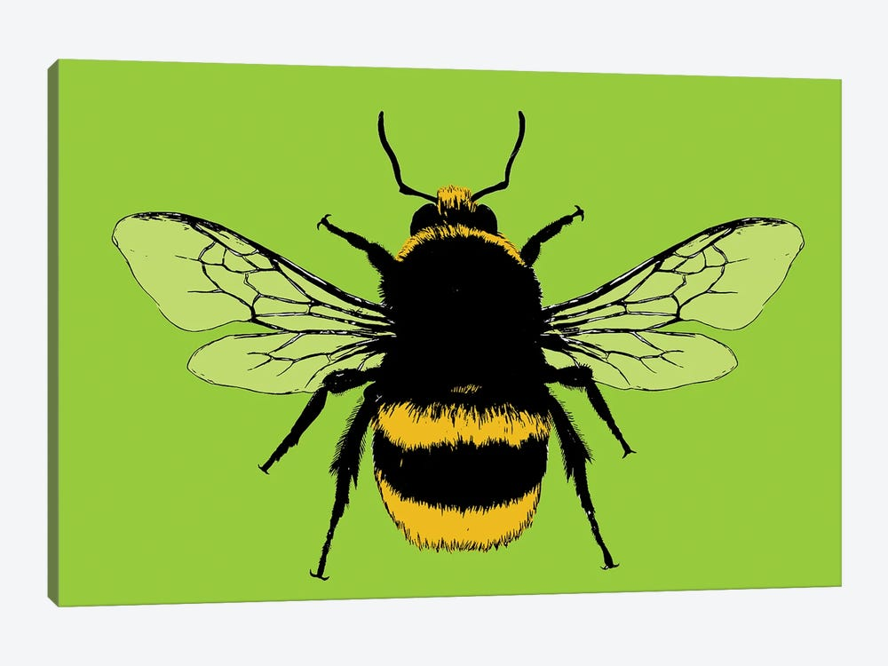 Bee Mine - Lime by Gary Hogben 1-piece Art Print
