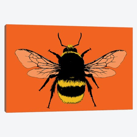 Bee Mine - Orange Canvas Print #GHO106} by Gary Hogben Canvas Artwork