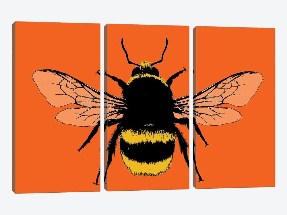 Bee Mine - Orange by Gary Hogben 3-piece Canvas Artwork