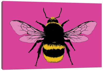 Bee Mine - Pink Canvas Art Print