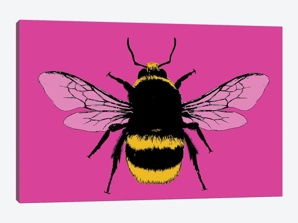 Bee Mine - Pink by Gary Hogben 1-piece Canvas Art Print