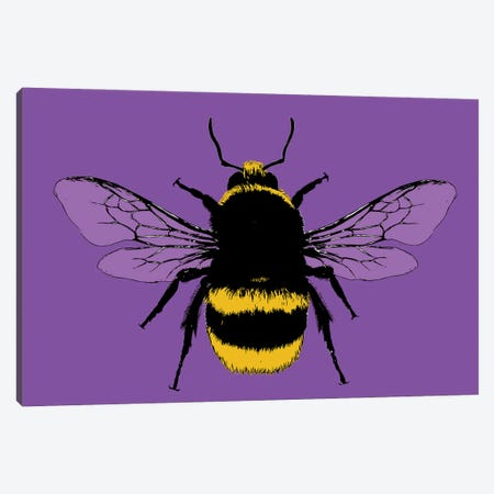 Bee Mine - Purple Canvas Print #GHO108} by Gary Hogben Canvas Print