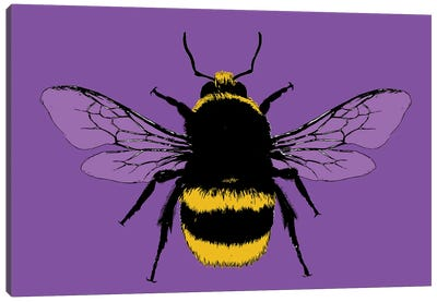 Bee Mine - Purple Canvas Art Print