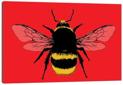 Bee Mine - Red Canvas Art Print