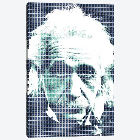 Einstein Blue Canvas Print #GHO10} by Gary Hogben Canvas Art