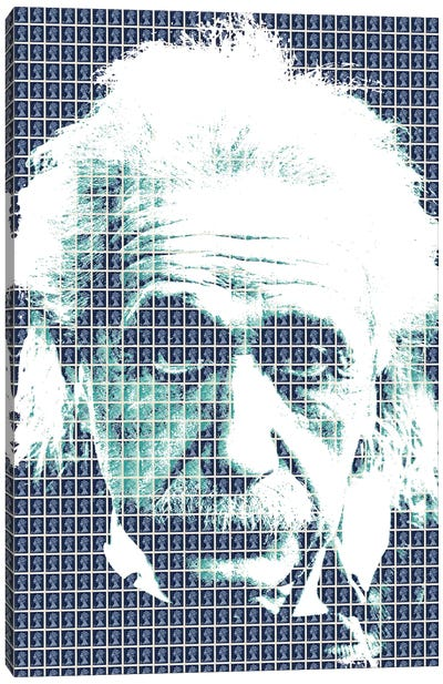 Einstein Blue Canvas Art Print