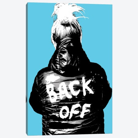 Back Off - Blue Canvas Print #GHO110} by Gary Hogben Canvas Art