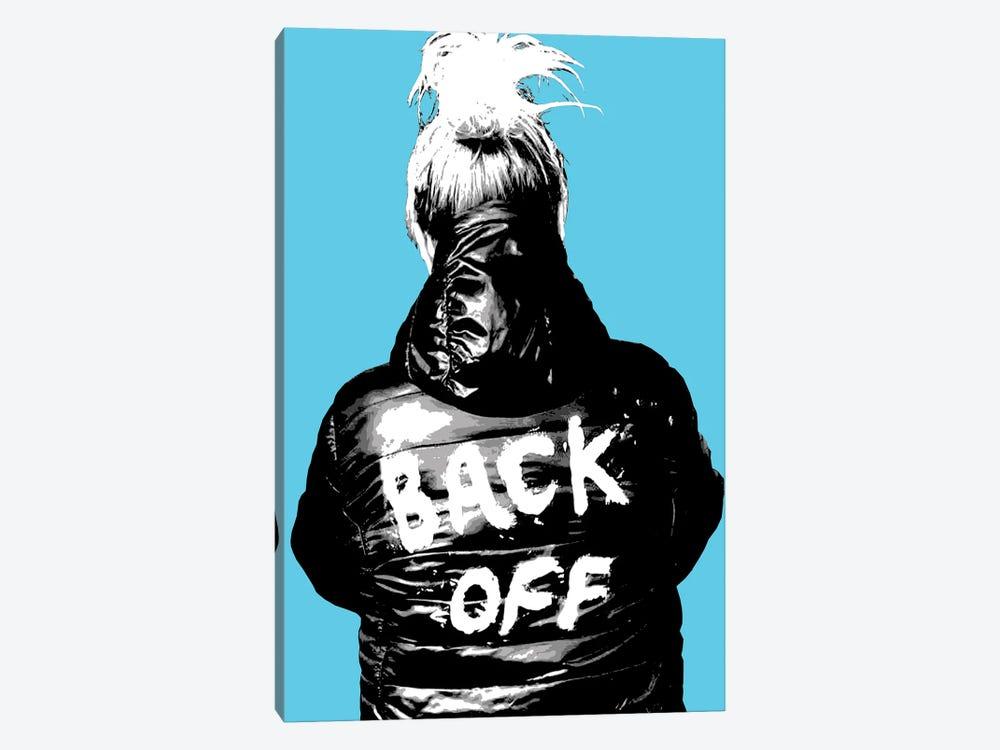 Back Off - Blue by Gary Hogben 1-piece Art Print
