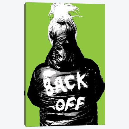 Back Off - Lime Canvas Print #GHO111} by Gary Hogben Canvas Wall Art