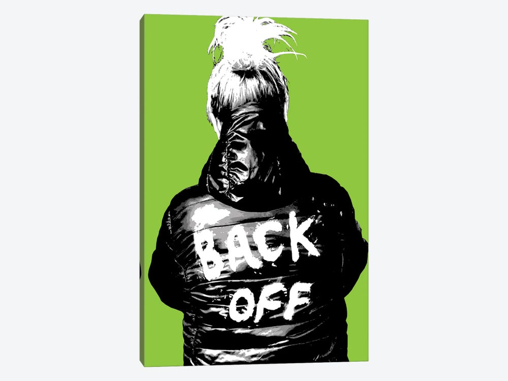 Back Off - Lime by Gary Hogben 1-piece Canvas Artwork