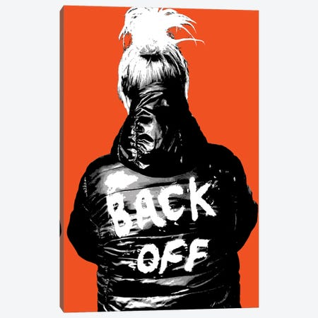 Back Off - Orange Canvas Print #GHO112} by Gary Hogben Canvas Artwork