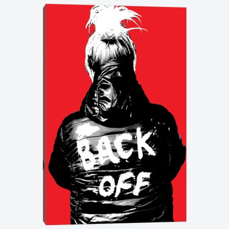 Back Off - Red Canvas Print #GHO115} by Gary Hogben Art Print