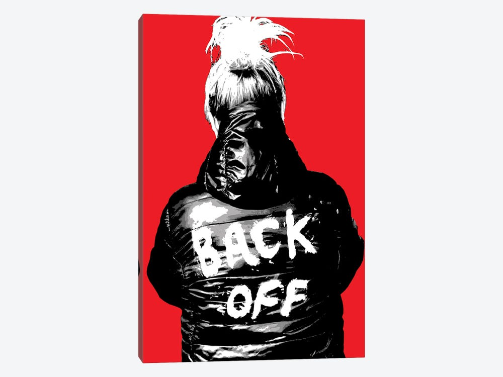 Back Off - Red by Gary Hogben 1-piece Canvas Artwork