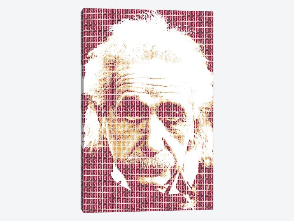 Einstein Maroon by Gary Hogben 1-piece Canvas Wall Art