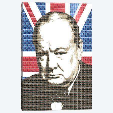Churchill Union Jack Canvas Print #GHO122} by Gary Hogben Canvas Art Print