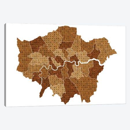 Scrabble London Canvas Print #GHO123} by Gary Hogben Canvas Art Print