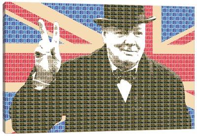 Churchill Victory Canvas Art Print