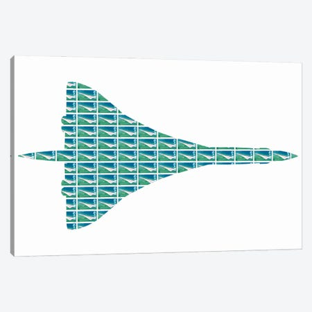 Concorde Canvas Print #GHO125} by Gary Hogben Canvas Wall Art