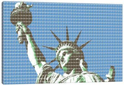 Liberty - Blue Canvas Art Print