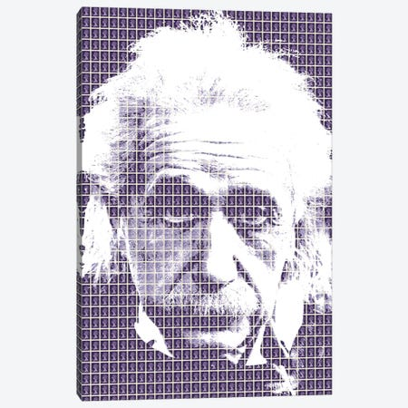 Einstein Purple Canvas Print #GHO12} by Gary Hogben Canvas Art