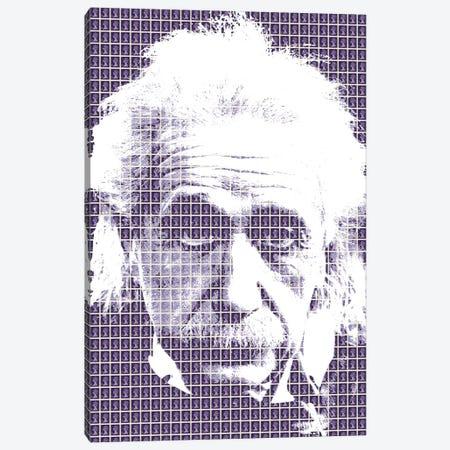 Einstein Purple Canvas Print #GHO12} by Gary Hogben Canvas Art