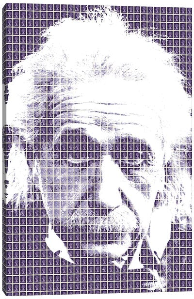 Einstein Purple Canvas Art Print