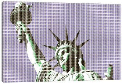 Liberty - Violet Canvas Art Print
