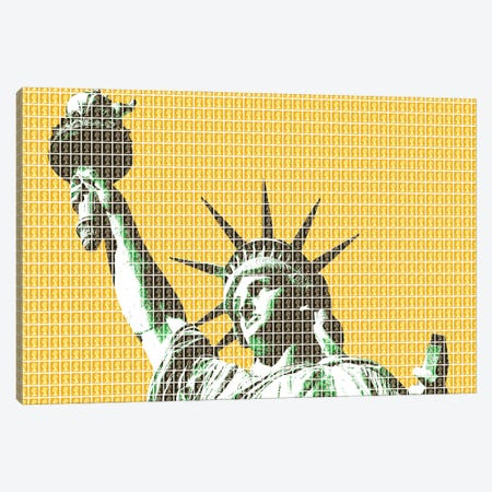 Liberty - Yellow Canvas Print #GHO134} by Gary Hogben Canvas Print