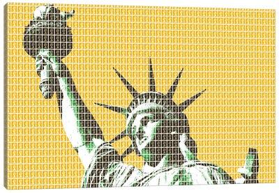 Liberty - Yellow Canvas Art Print