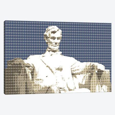 Lincoln Memorial - Blue Canvas Print #GHO135} by Gary Hogben Art Print
