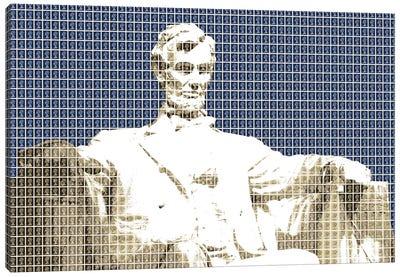 Lincoln Memorial - Blue Canvas Art Print
