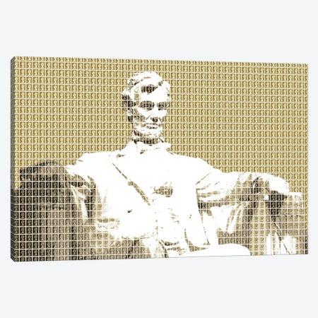 Lincoln Memorial - Gold Canvas Print #GHO136} by Gary Hogben Canvas Art Print