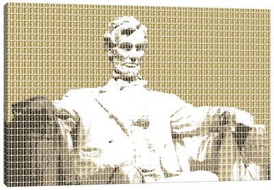 Lincoln Memorial - Gold Canvas Art Print