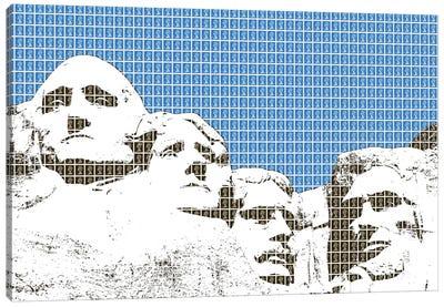 Rushmore - Blue Canvas Art Print