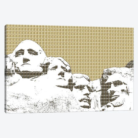 Rushmore - Gold Canvas Print #GHO138} by Gary Hogben Canvas Artwork