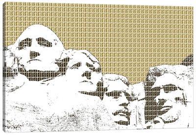 Rushmore - Gold Canvas Art Print