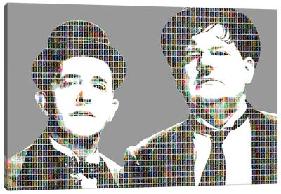 Stan and Ollie Canvas Art Print