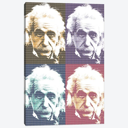 Einstein X 4 Canvas Print #GHO13} by Gary Hogben Canvas Artwork
